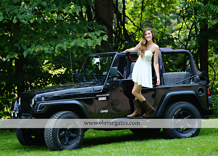 Mechanicsburg Central PA senior portrait photographer outdoor girl female field trees wood wall rustic barn door formal jeep wrangler grass wildflowers hammock swing mz 07