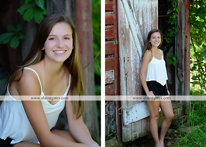 Mechanicsburg Central PA senior portrait photographer outdoor girl female grass field stone wall wood barn rustic rf 07