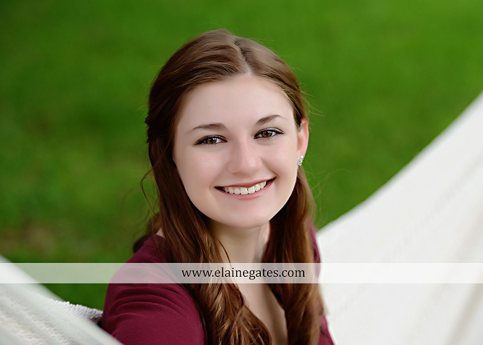 Mechanicsburg Central PA senior portrait photographer outdoor girl female water stream creek trees road grass wildflowers black eyed susans field hammock wooden swing sidewalk brick stone wall js 05