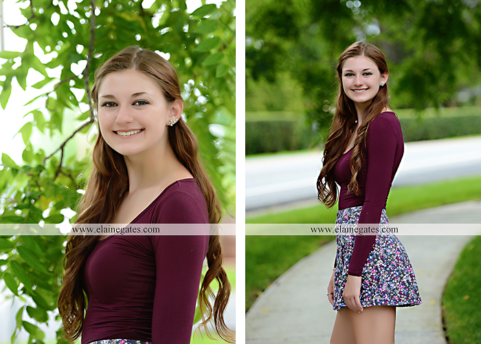Mechanicsburg Central PA senior portrait photographer outdoor girl female water stream creek trees road grass wildflowers black eyed susans field hammock wooden swing sidewalk brick stone wall js 08