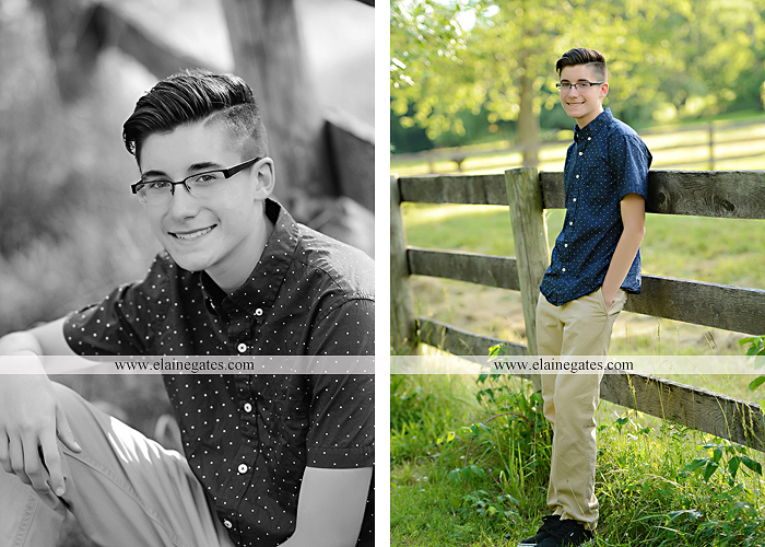 Mechanicsburg Central PA senior portrait photographer outdoor guy male formal fence field trees grass mother mom en 02