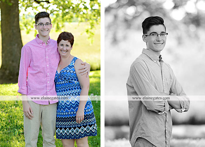 Mechanicsburg Central PA senior portrait photographer outdoor guy male formal fence field trees grass mother mom en 03