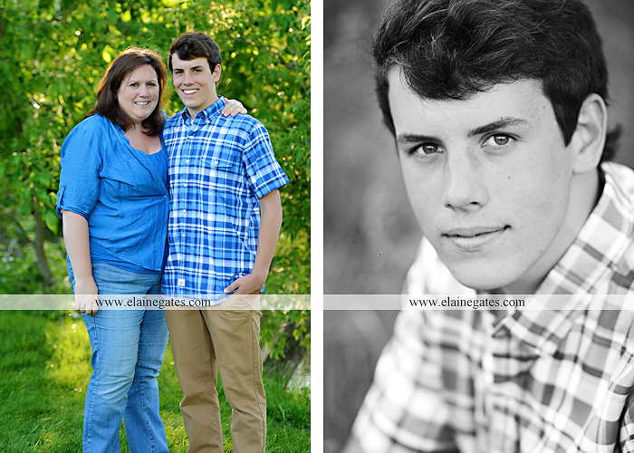 Mechanicsburg Central PA senior portrait photographer outdoor guy male mother mom father dad covered bridge trees grass water stream creek logs rocks dog rail jm 04