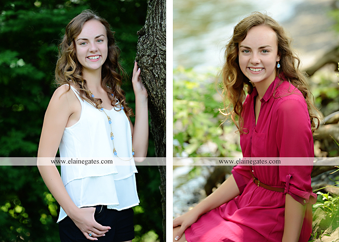 Mechanicsburg Central PA senior portrait photographer outdoor tree water stream creek fence road sidewalk brick stone wall grass wildflowers field hammock chair ab 01