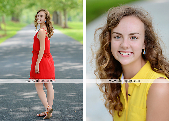 Mechanicsburg Central PA senior portrait photographer outdoor tree water stream creek fence road sidewalk brick stone wall grass wildflowers field hammock chair ab 03