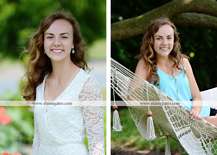 Mechanicsburg Central PA senior portrait photographer outdoor tree water stream creek fence road sidewalk brick stone wall grass wildflowers field hammock chair ab 06