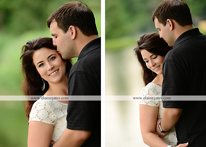 Mechanicsburg Central PA engagement portrait photographer outdoor fence trees field road path barn door ivy wildflowers kiss 01