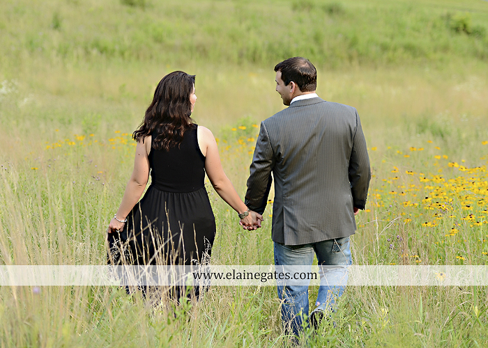 Mechanicsburg Central PA engagement portrait photographer outdoor fence trees field road path barn door ivy wildflowers kiss 11