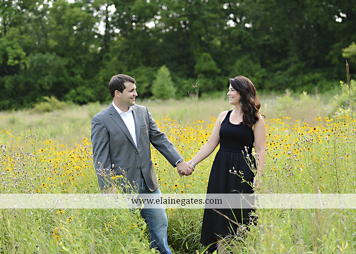 Mechanicsburg Central PA engagement portrait photographer outdoor fence trees field road path barn door ivy wildflowers kiss 13