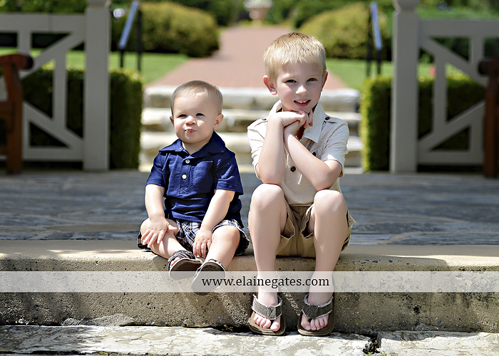 Mechanicsburg Central PA family portrait photographer outdoor mother father sons boys grass flowers steps chair bridge trees bench brick path jr 02