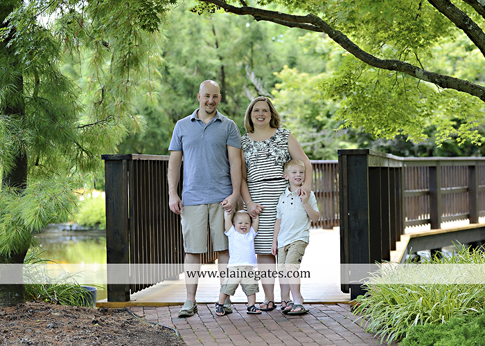 Mechanicsburg Central PA family portrait photographer outdoor mother father sons boys grass flowers steps chair bridge trees bench brick path jr 05