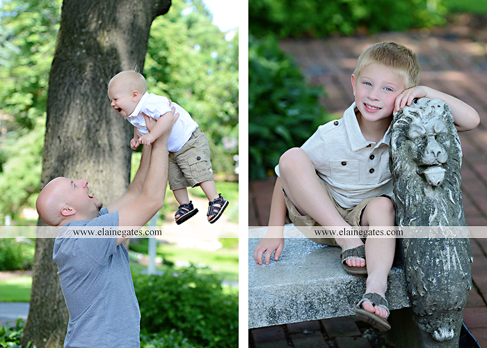 Mechanicsburg Central PA family portrait photographer outdoor mother father sons boys grass flowers steps chair bridge trees bench brick path jr 06