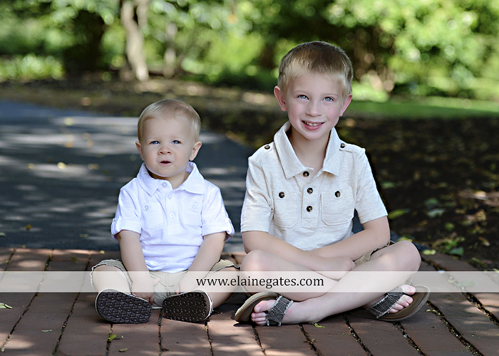 Mechanicsburg Central PA family portrait photographer outdoor mother father sons boys grass flowers steps chair bridge trees bench brick path jr 08
