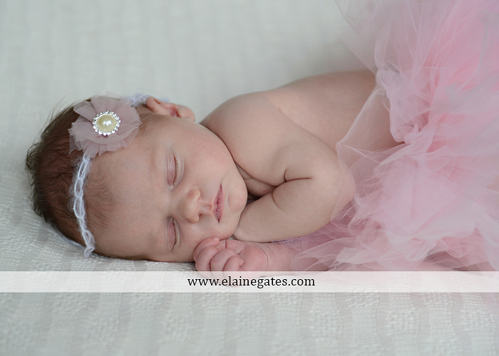 Mechanicsburg Central PA newborn portrait photographer girl outdoor sleeping hat bow blanket basket wooden floor pink white tutu mother father parents grass trees 11