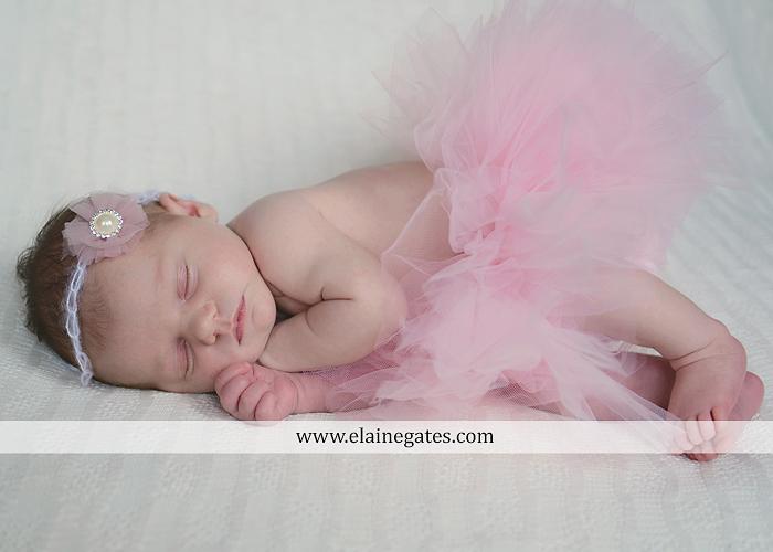 Mechanicsburg Central PA newborn portrait photographer girl outdoor sleeping hat bow blanket basket wooden floor pink white tutu mother father parents grass trees 12