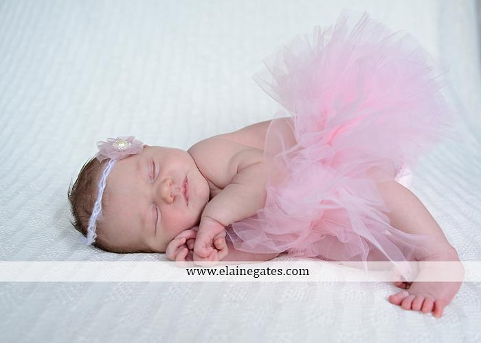 Mechanicsburg Central PA newborn portrait photographer girl outdoor sleeping hat bow blanket basket wooden floor pink white tutu mother father parents grass trees 14