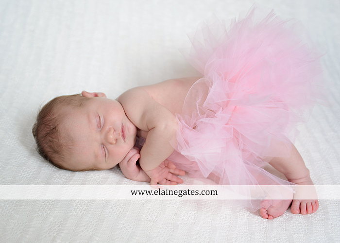 Mechanicsburg Central PA newborn portrait photographer girl outdoor sleeping hat bow blanket basket wooden floor pink white tutu mother father parents grass trees 15
