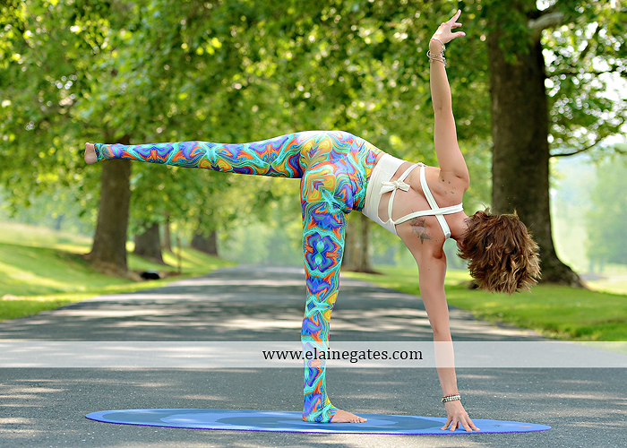 Mechanicsburg Central PA portrait photographer outdoor Qi Yo Oval Yoga mat mommayogini_83 road trees field grass sf 03