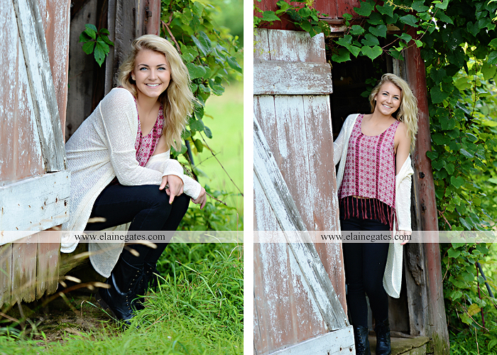 Mechanicsburg Central PA senior portrait photographer outdoor girl female fence field wood wall stone wall barn door wildflowers hammock bench tree swing formal ma 06