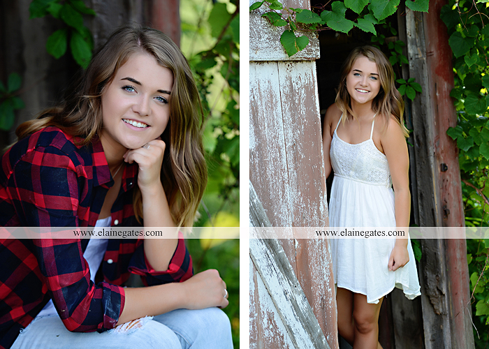 Mechanicsburg Central PA senior portrait photographer outdoor girl female fence trees woods field wooden swing rustic barn door wildflowers black eyed susans grass metal bench 09