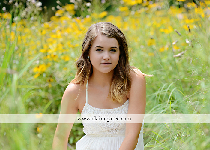 Mechanicsburg Central PA senior portrait photographer outdoor girl female fence trees woods field wooden swing rustic barn door wildflowers black eyed susans grass metal bench 12