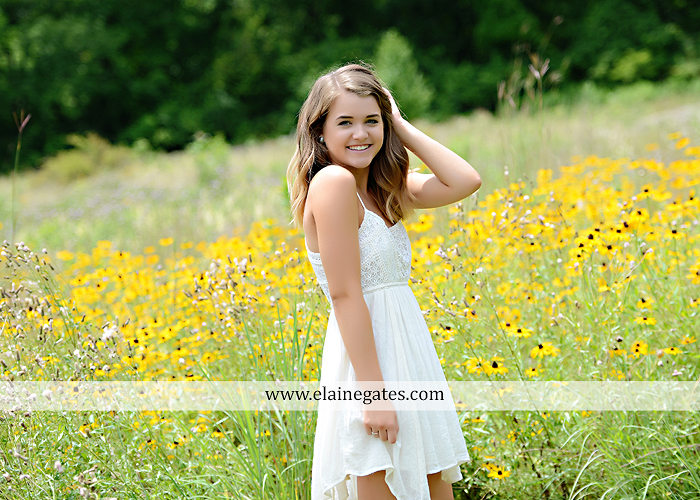 Mechanicsburg Central PA senior portrait photographer outdoor girl female fence trees woods field wooden swing rustic barn door wildflowers black eyed susans grass metal bench 13
