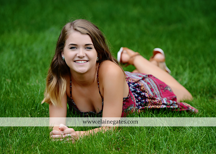 Mechanicsburg Central PA senior portrait photographer outdoor girl female fence trees woods field wooden swing rustic barn door wildflowers black eyed susans grass metal bench 14