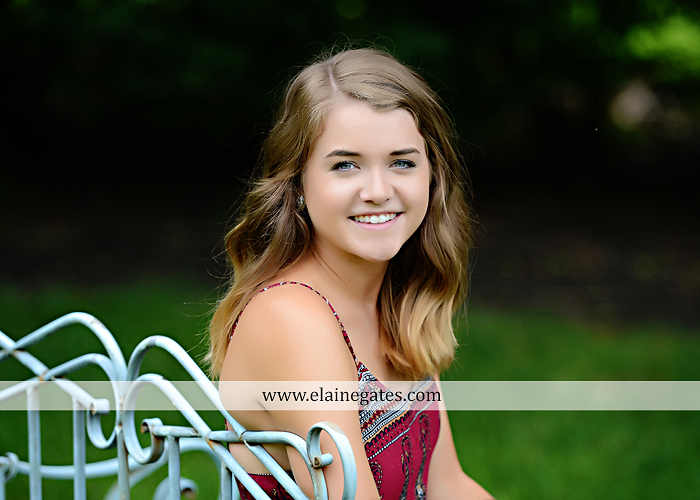 Mechanicsburg Central PA senior portrait photographer outdoor girl female fence trees woods field wooden swing rustic barn door wildflowers black eyed susans grass metal bench 15