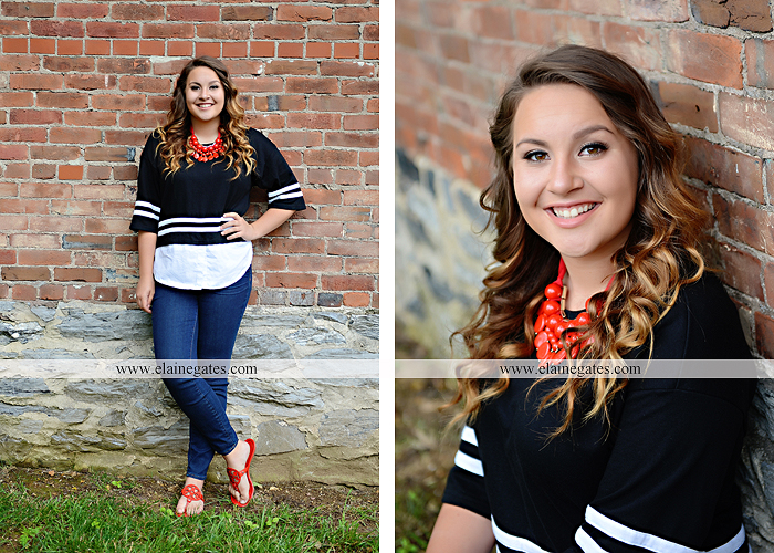 Mechanicsburg Central PA senior portrait photographer outdoor girl female field wildflowers stone wall wood wall formal trees grass water stream creek road sidewalk brick wall wooden swing 10