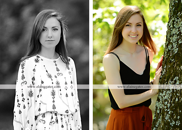 Mechanicsburg Central PA senior portrait photographer outdoor girl female grass water stream creek tree fence field road brick wall stone wall sunflowers wildflowers hammock swing bench formal kl 02