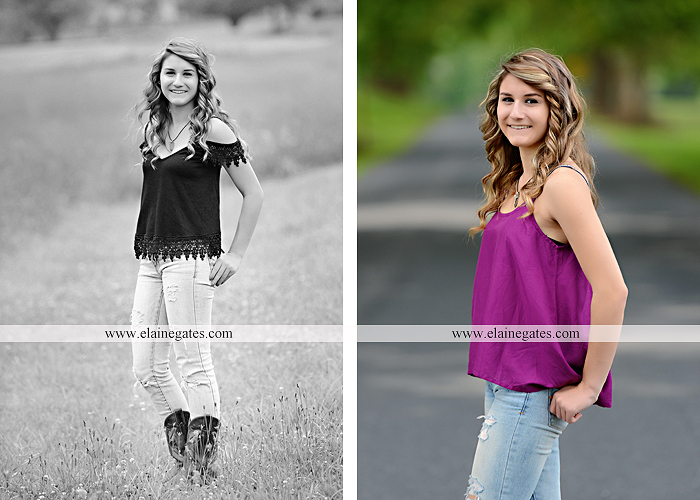 Mechanicsburg Central PA senior portrait photographer outdoor girl female tree grass water creek stream fence field road wildflowers hammock bench dg 05
