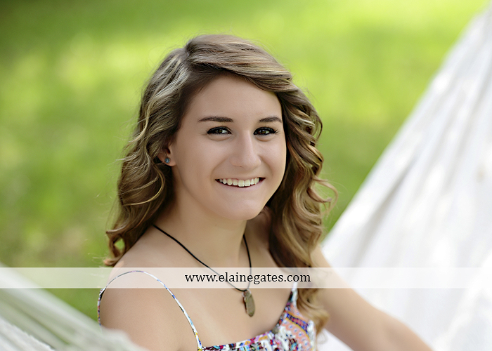 Mechanicsburg Central PA senior portrait photographer outdoor girl female tree grass water creek stream fence field road wildflowers hammock bench dg 07
