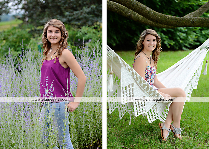 Mechanicsburg Central PA senior portrait photographer outdoor girl female tree grass water creek stream fence field road wildflowers hammock bench dg 08