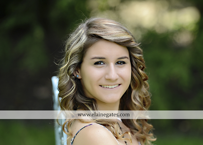 Mechanicsburg Central PA senior portrait photographer outdoor girl female tree grass water creek stream fence field road wildflowers hammock bench dg 09