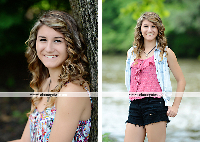 Mechanicsburg Central PA senior portrait photographer outdoor girl female tree grass water creek stream fence field road wildflowers hammock bench dg 10