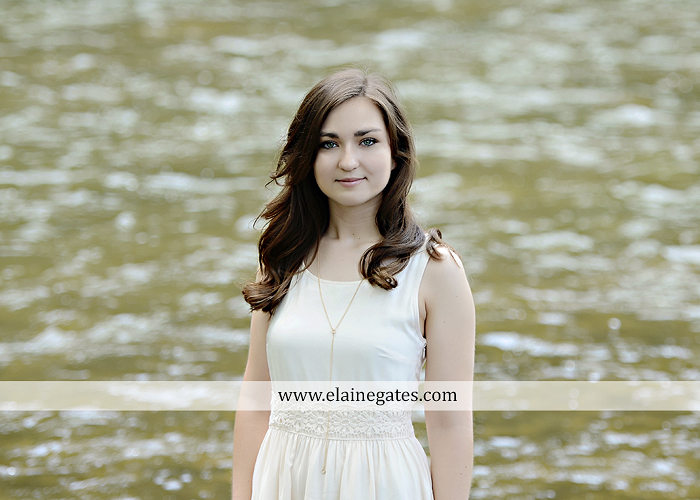 Mechanicsburg Central PA senior portrait photographer outdoor girl female water stream creek fence field formal tree wildflowers hammock wooden swing sl 01