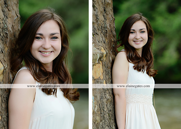 Mechanicsburg Central PA senior portrait photographer outdoor girl female water stream creek fence field formal tree wildflowers hammock wooden swing sl 05