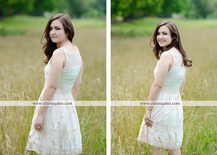 Mechanicsburg Central PA senior portrait photographer outdoor girl female water stream creek fence field formal tree wildflowers hammock wooden swing sl 07