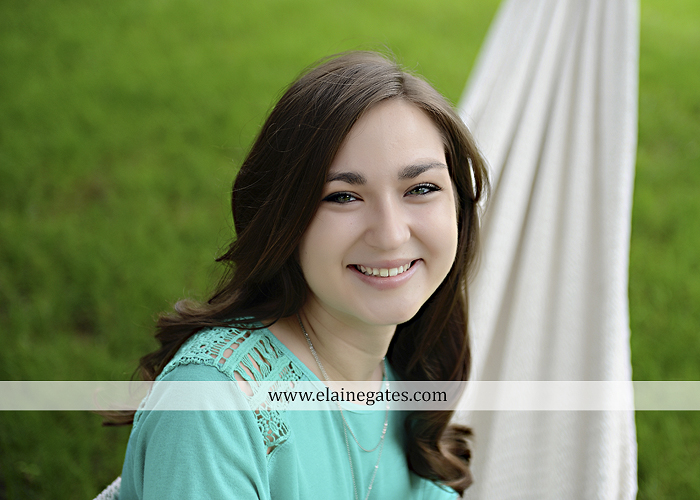 Mechanicsburg Central PA senior portrait photographer outdoor girl female water stream creek fence field formal tree wildflowers hammock wooden swing sl 12
