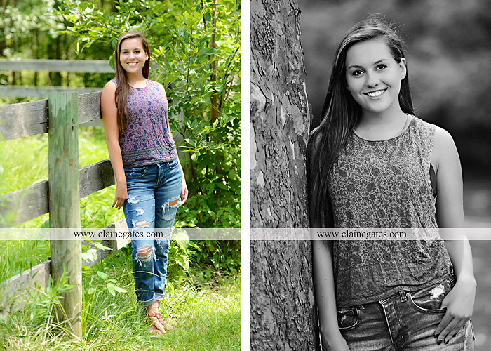 Mechanicsburg Central PA senior portrait photographer outdoor girl female water stream creek fence field road trees sunflowers wildflowers hammock wooden swing hp 04