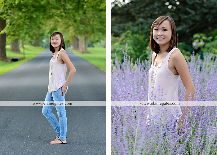 Mechanicsburg Central PA senior portrait photographer outdoor girl female water stream creek grass shore bench rock fence wildflowers road swing tree br 07