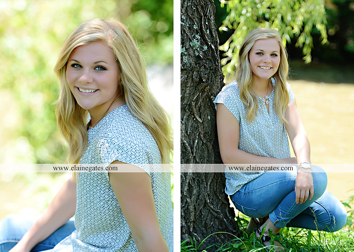 Mechanicsburg Central PA senior portrait photographer outdoor grass formal tree water stream creek fence field american flag usa ford pickup truck road brick wall stone wall wildflowers wooden swing 03