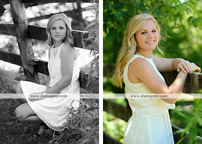 Mechanicsburg Central PA senior portrait photographer outdoor grass formal tree water stream creek fence field american flag usa ford pickup truck road brick wall stone wall wildflowers wooden swing 06