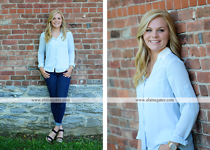 Mechanicsburg Central PA senior portrait photographer outdoor grass formal tree water stream creek fence field american flag usa ford pickup truck road brick wall stone wall wildflowers wooden swing 16