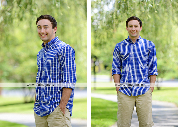 Mechanicsburg Central PA senior portrait photographer outdoor male guy baseball scoreboard dugout bench grass fence path road jd 09