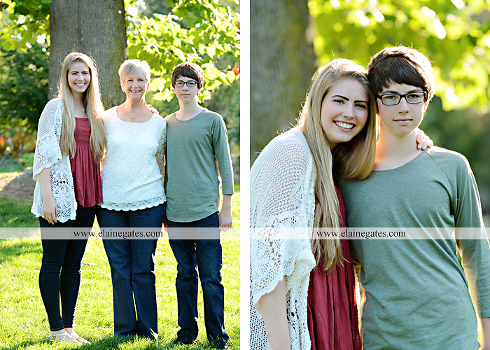 Mechanicsburg Central PA family portrait photographer outdoor carlisle dickinson college mother father sister brother parents dog trees grass stone wall adirondack chair mt 03