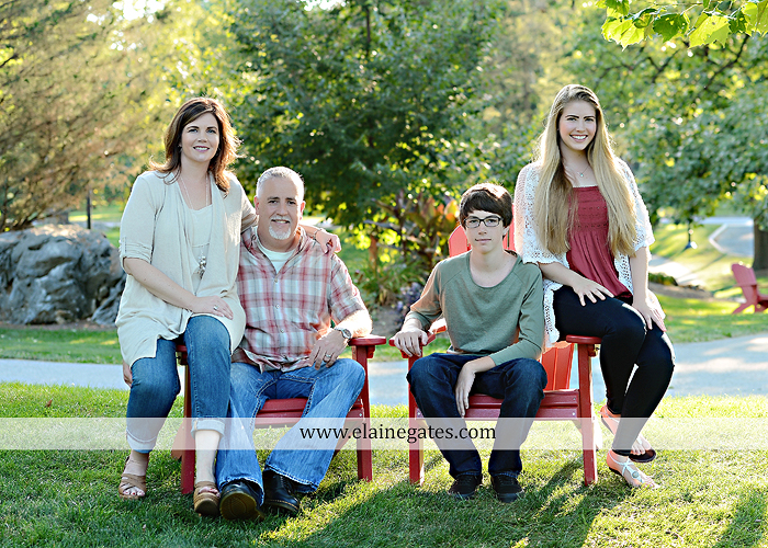 Mechanicsburg Central PA family portrait photographer outdoor carlisle dickinson college mother father sister brother parents dog trees grass stone wall adirondack chair mt 04