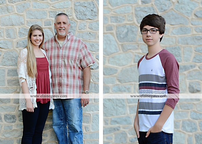 Mechanicsburg Central PA family portrait photographer outdoor carlisle dickinson college mother father sister brother parents dog trees grass stone wall adirondack chair mt 17