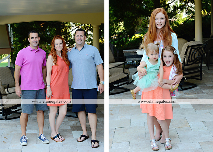Mechanicsburg Central PA family portrait photographer outdoor  mother father sister brother parents children girls grandchildren toddler grass patio couch fire pit rl 07