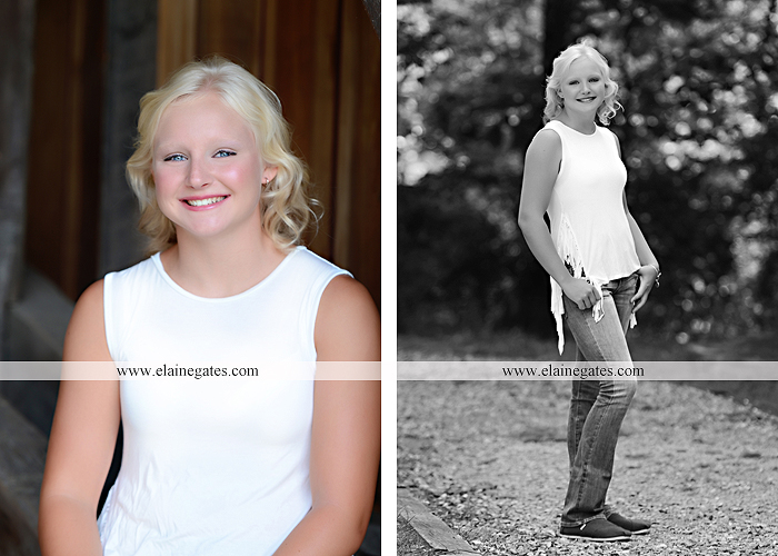 Mechanicsburg Central PA senior portrait photographer outdoor female girl formal swing bench hammock rusted bridge trees covered bridge beams path kk 07